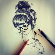Beautiful Pencil Sketched Girl Whats app profile picture