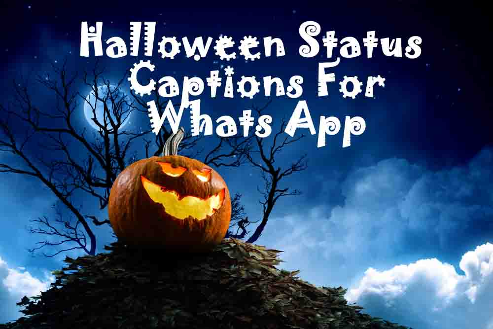halloween Whats app status captions